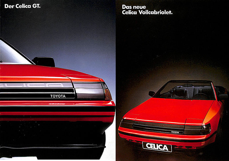 4th Generation Celica Brochures (Prospekte)