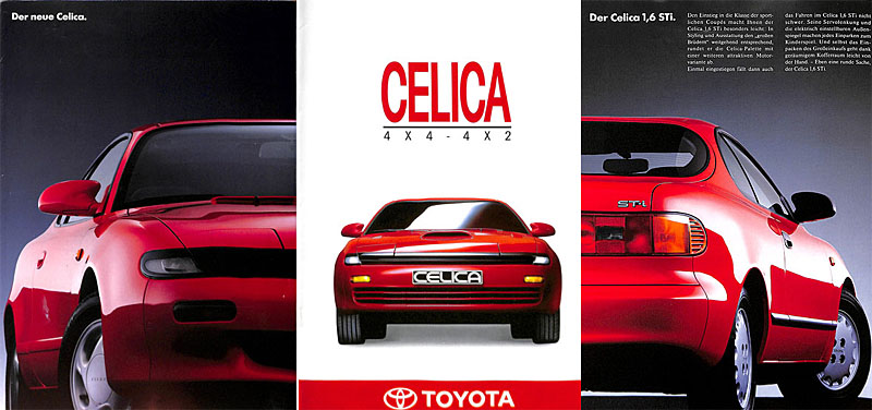 5th Generation Celica Brochures (Prospekte)